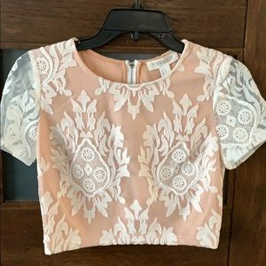 NWT lace crop top